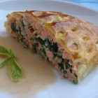 filete de salmon en costra