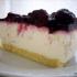 Tarta de queso con frutas al microondas